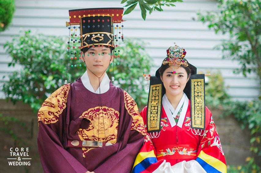 Korean Traditional House Wedding Ceremony with Photography