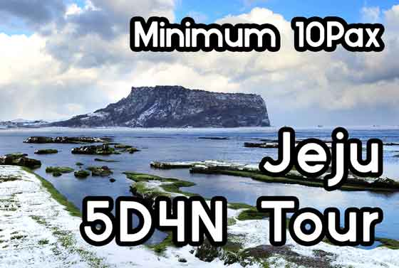 Jeju 5D4N Group Package(10Pax~)