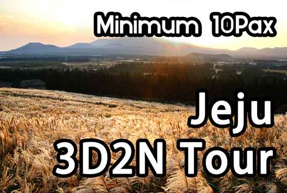 Jeju 3D2N Tour Package(10Pax~)
